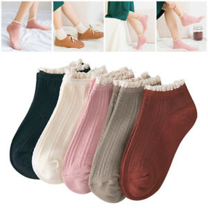 Kawaii-Cute-Women-Girl-Soft-Cotton-Lace-Boat-Ankle-Socks-Hosiery-Casual-Sock