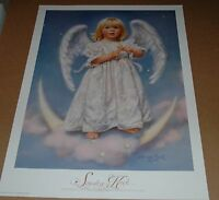 Sandra Kuck - Twinkle -24x18 Open Edition Poster Angelic Girl Angel Holding Star