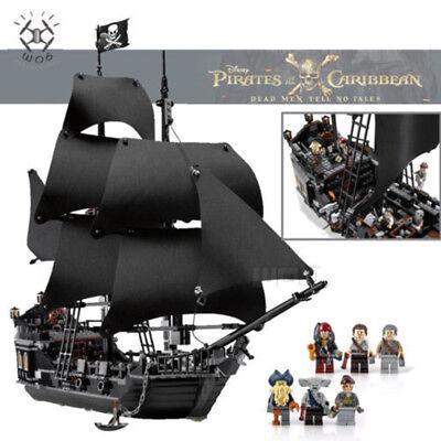 Black Pearl Ship 16006 Pirates Of The Caribbean Jack Schiff Building Block 804pc Ebay
