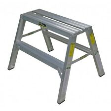"""Warner 10225 - 24"""" Step Up Drywall Bench WIDE Double Sided Aluminum Step Ladder"""