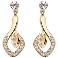 Rose Gold Short Dangly Gold Colour Stud Earrings Quality Jewellery Uk Gift Boxed