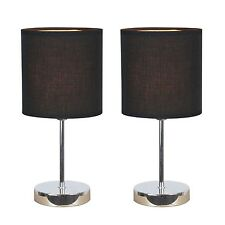 Table-Lamps-Set-Of-2-Touch-Sensor-With-Shades-Desktop-Bedroom-Fast-Shipping-New