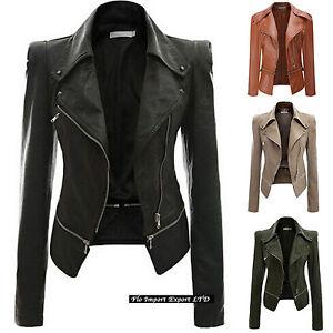 Polipiel Short De eBay PU Mujer Leather Corta JAC0016 Chaqueta qvxtf6c