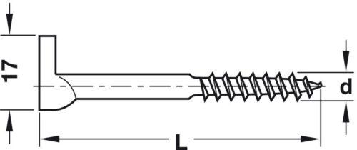 Häfele Schraubhaken Schrankaufhänger Möbelaufhänger Aufhänger Wandhaken Stahl PZ