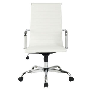 Détails sur Fauteuil de Bureau Chaise de Bureau Cuir PU Haut Réglable 56x63x103 113cm