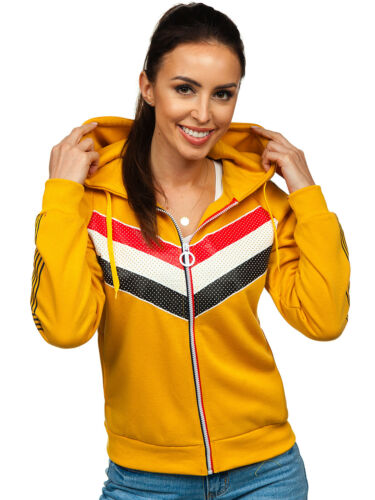 Capuche Sweatshirt Sweatjacke hoodie pull motif femmes mix capuche BOLF