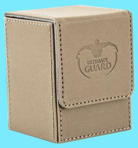 ULTIMATE-GUARD-XENOSKIN-FLIP-DECK-CASE-Standard-Size-SAND-100-MTG-Card-Box