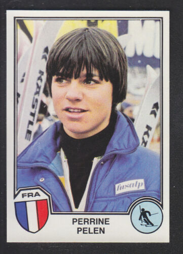 Panini Sport Superstars Euro Football 82 # 350 Perrine Pelen Skiing