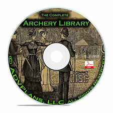 Classic Archery, 35 Books Library on CD, Bow and Arrow, Shooting Techniques B70