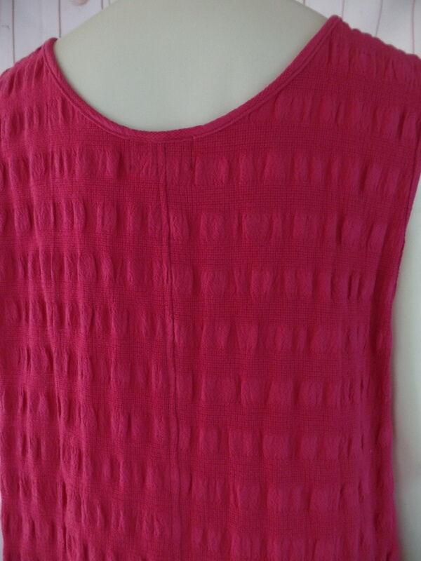 El Huarache Cottons Cottons Cottons Dress S M New Retails  78 Red Textured Cotton Shift Jumper cb798a
