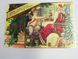 Shackman Antique Reproduction Christmas Postcard Happy New Year