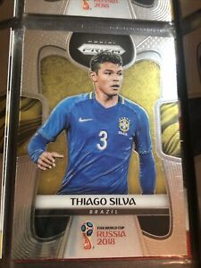Thiago Silva Panini Prizm World Cup 2018 Football Soccer Card