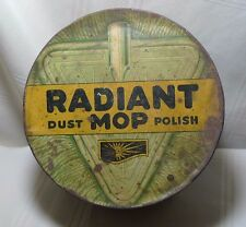 Vintage Radiant Mop Dust Polish Tin Midway Chemical Co. Jersey City, N.J.
