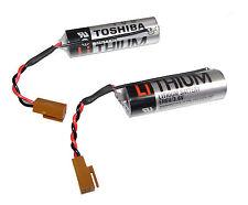 2X TOSHIBA ER6V/3.6V 2000mAh Battery W/Plug  For power of CNC PLC data backup US