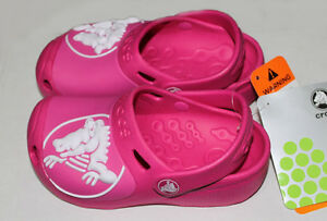 28a070b09 Image is loading Crocs-GABE-Girls-Fuchsia-Pink-C6-7-J1-