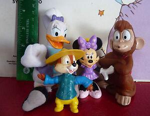 Special-Lot-of-4-PVC-Toys-Abu-Minnie-Daisy-amp-Chip