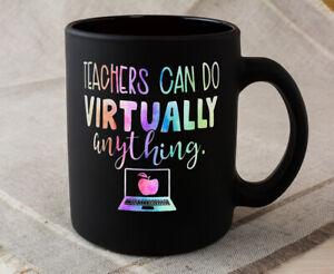 Black Coffee Mug Teacher Can Do Virtually Anything