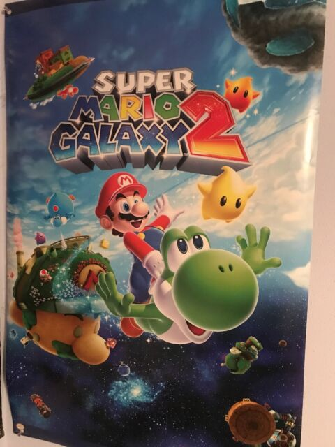 super mario galaxy 2 video game poster 34x22  ebay