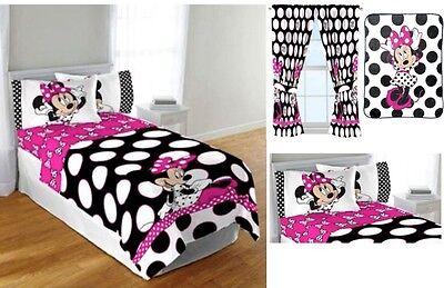 KIDS GIRLS DISNEY MINNIE MOUSE BEDDING BED IN A BAG / COMFORTER SET | eBay