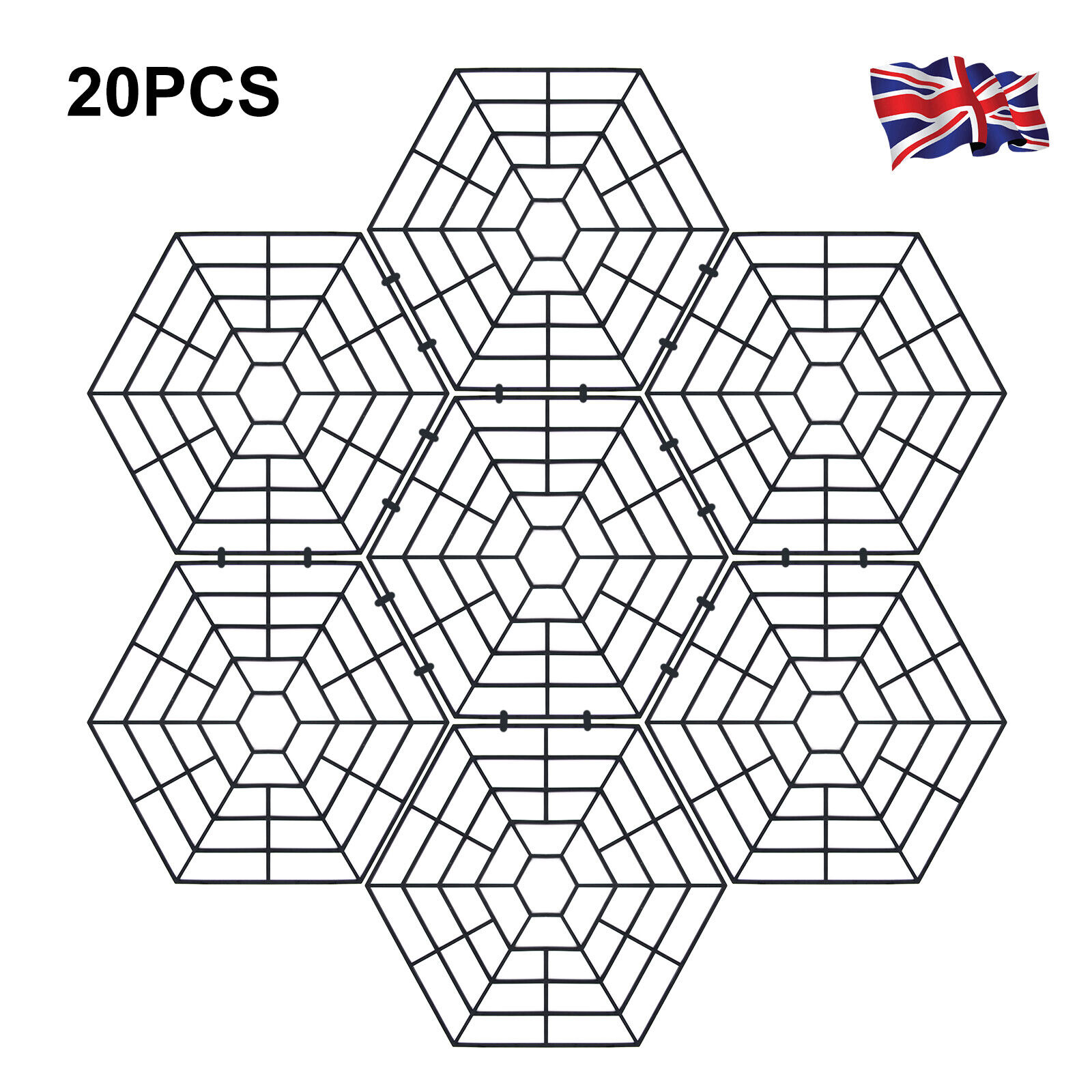 20Pcs Pond Protector Cover Net Floating Water Fish Pests Guard Grid Cats