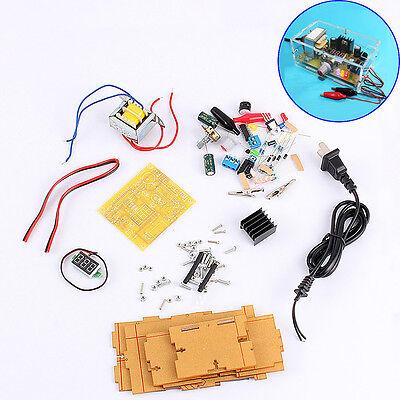 LM317 Einstellbar 1.25V-12V Voltage Power Supply Board DIY Kit Suite Mit Gehäuse
