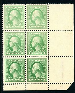 USAstamps-Unused-VF-US-Washington-Corner-Block-Scott-525-OG-MNH-HR-on-Salvage