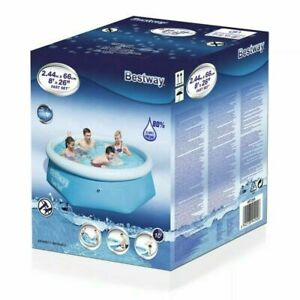 Bestway 8ft X 26 Pool Above Ground Inflatable Swimming Pool With Pump Ebay
