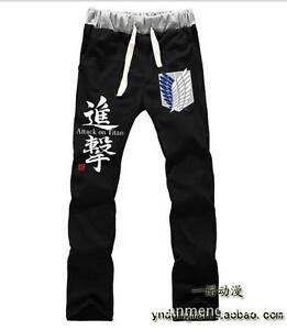 Cosplay Shingeki No Kyojin Attack On Titan Anime Manga Sports Hose 100%baumwolle Gute QualitäT Comics Kostüme