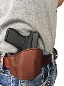 Pro-tech-Brown-Leather-OWB-Belt-Slide-Holster-for-Smith-amp-Wesson-M-amp-P-Shield-40-9