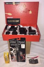 Asahi Pentax Auto 110 SLR OUTFIT: BODY, 3 LENSES, FLASH, WINDER & Case in Box