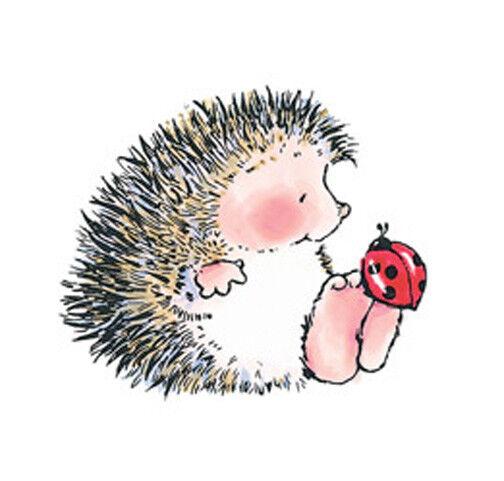 Penny Black Gossip Hedgehog Ladybug Rubber Stamp 1448F