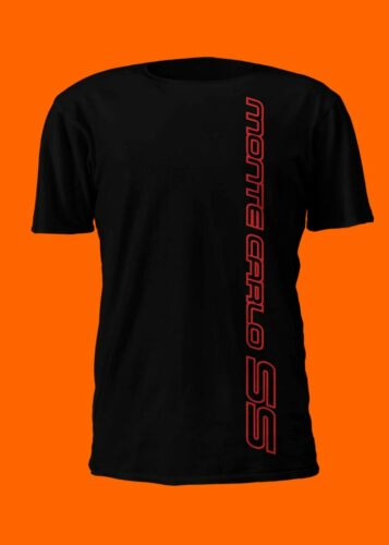 Chevrolet Monte Carlo SS Vertical Logo T-Shirt Silver Black or Red Logo