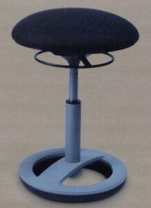 Sitztrainer Fitnesshocker Sitzhocker dreidimensional beweglich Living anthrazit