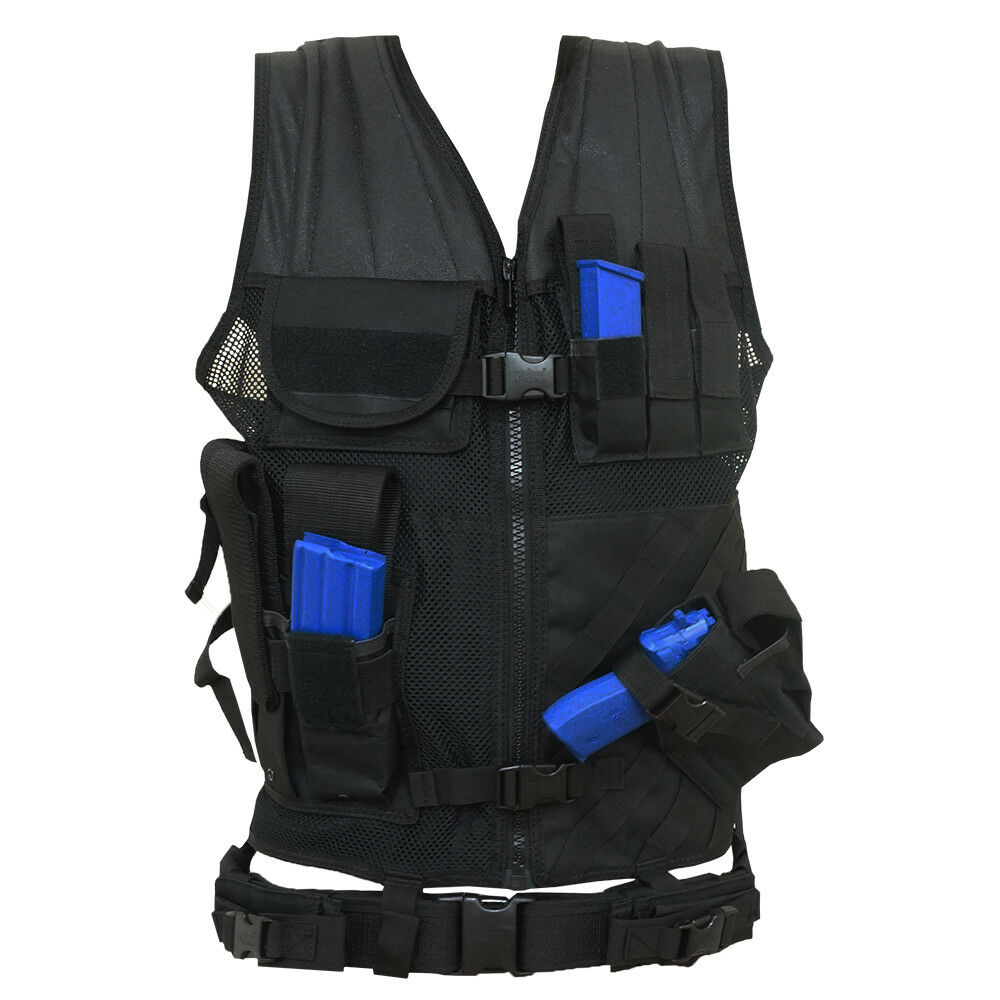 Every Day Carry Tactical  MOLLE Adjustable Vest with  Magazine and Pistol Holster  latest styles