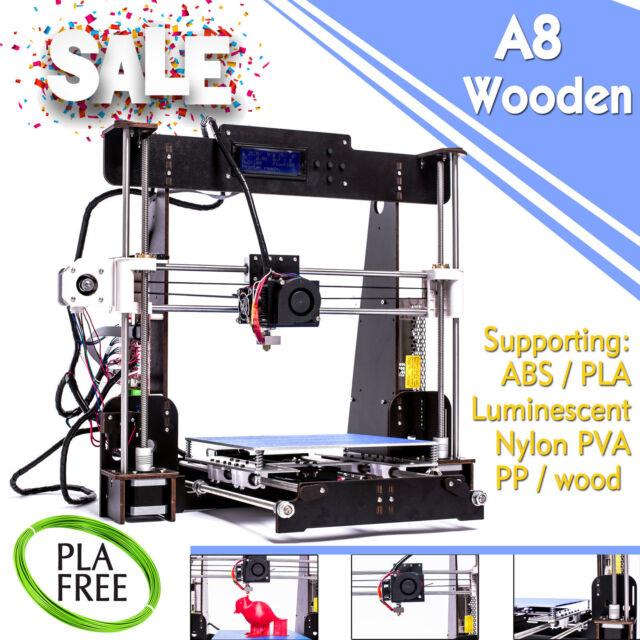 2019 New CTC A8W5 wood 3D Printer High Precision Reprap i3 DIY Kit 3D Drucker