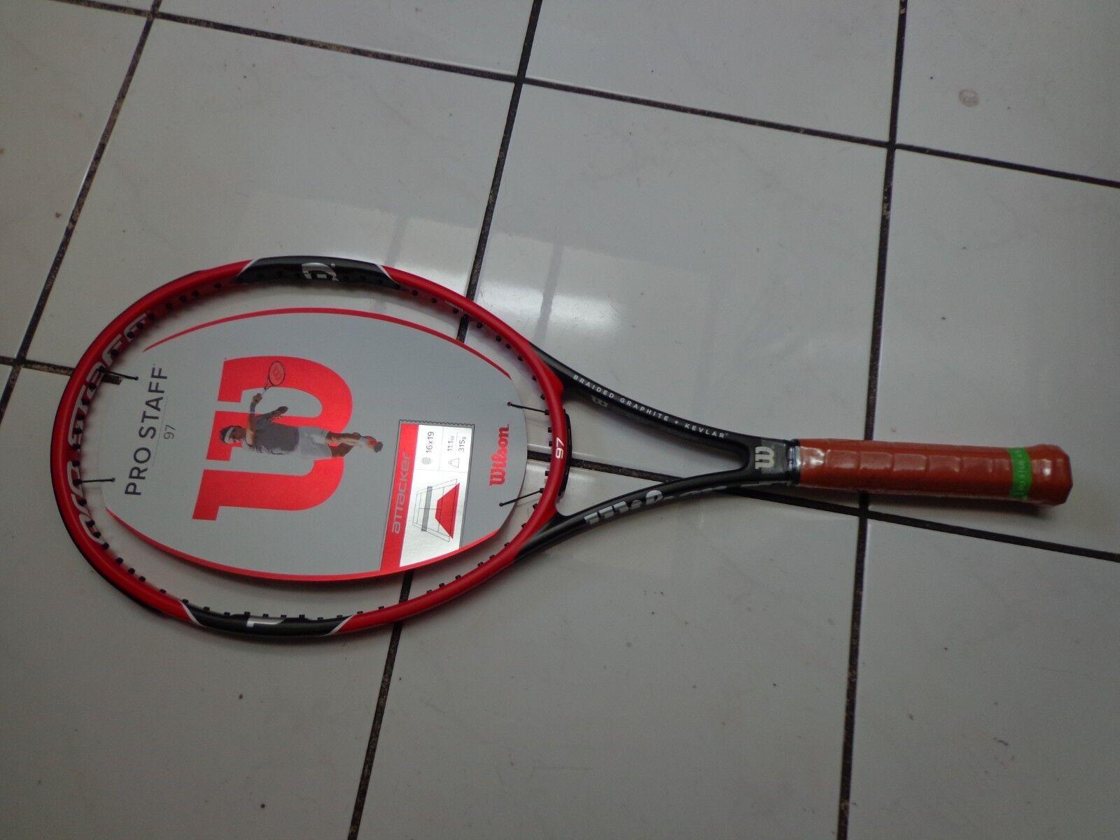 NEW 2014 Wilson Pro Staff 97 head 11.1oz unstrung 4 1 2 grip Tennis Racquet