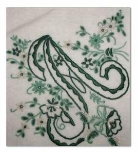 Monogrammed-Vintage-Madeira-Handkerchief-Letter-A-Gorgeous-Dark-Green
