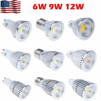 MR16 E27 GU10 LED COB 6W 9W 12W Spot Light Bulbs 12V Warm Cool White US STOCK VP