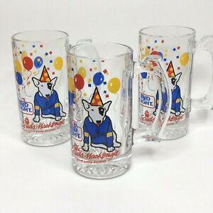 Vintage-Spuds-Mackenzie-Bud-Light-Mug-Beer-Stein-3-Set-1987-Barware-Glasses