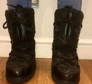 Love Moschino Black Glitter Snow Boots