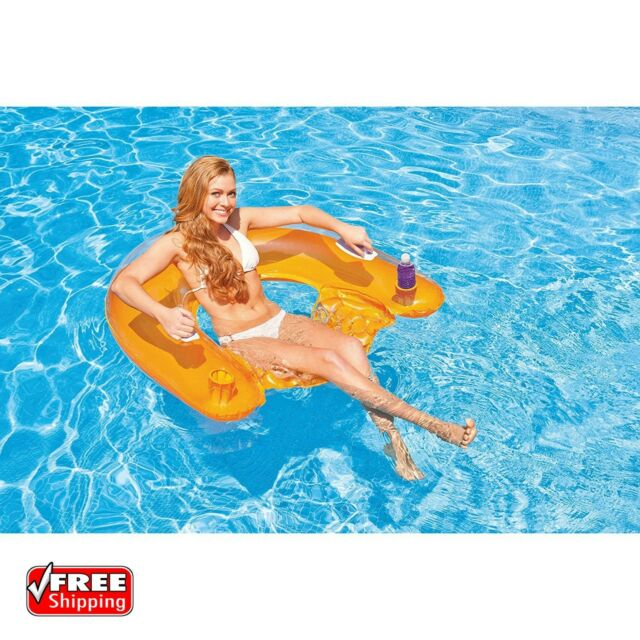 Swimming Pool Inflatable Chair Float Swimline Floating Lounge Raft Water  Party