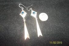 Vintage 925 Sterling Silver Long Dangle Earrings southwest