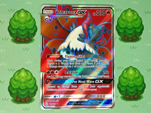 213//236 Pokemon Volcarona GX SM Cosmic Eclipse Full Art