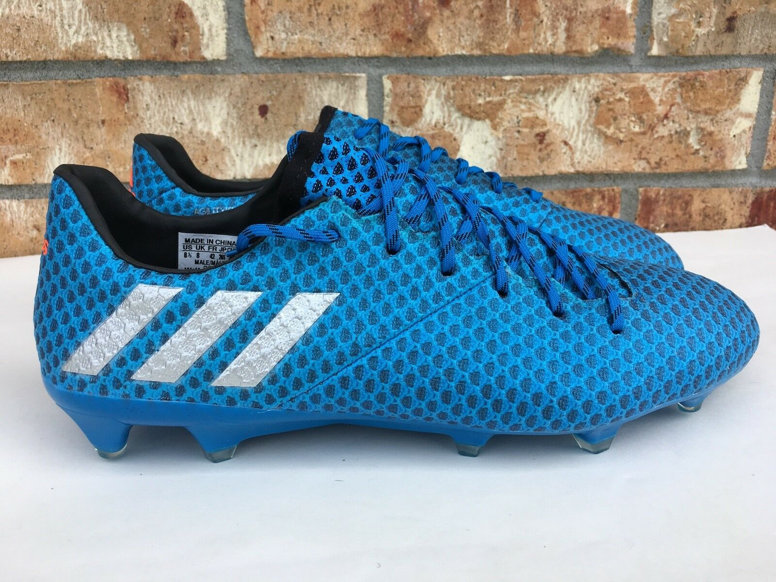 Men's Adidas Messi 16.1 FG AG Cleats Firm Ground Soccer Boots Cleats AG Blue AQ3109 b597fc