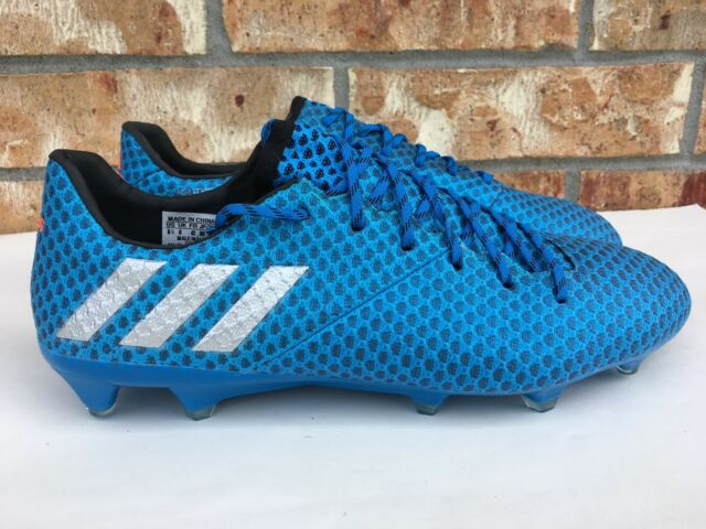 a6da342bbfd Men s Adidas Messi 16.1 FG AG Firm Ground Soccer Boots Cleats Blue AQ3109