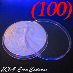 5 Airtite Direct Fit Coin Holders Capsules H40 For One Ounce 1 oz Silver Eagle