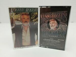 Kenny-Rogers-Cassette-Tapes-Lot-of-2-Twenty-Greatest-Hits-amp-Share-Your-Love