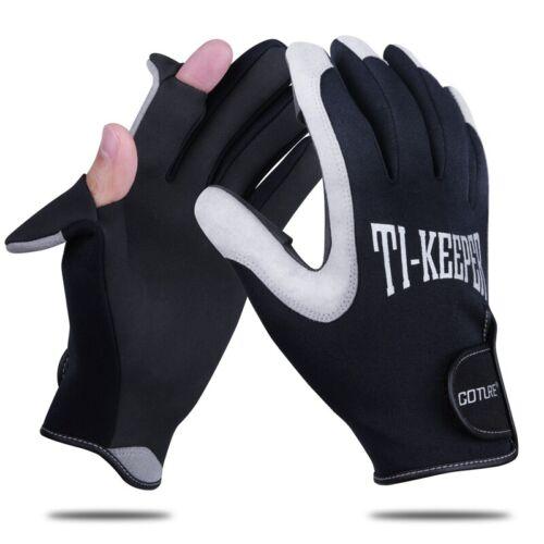 2 Cut Fingers Fishing Gloves Anti-Slip Waterproof Warm Outdoor Sports Gloves