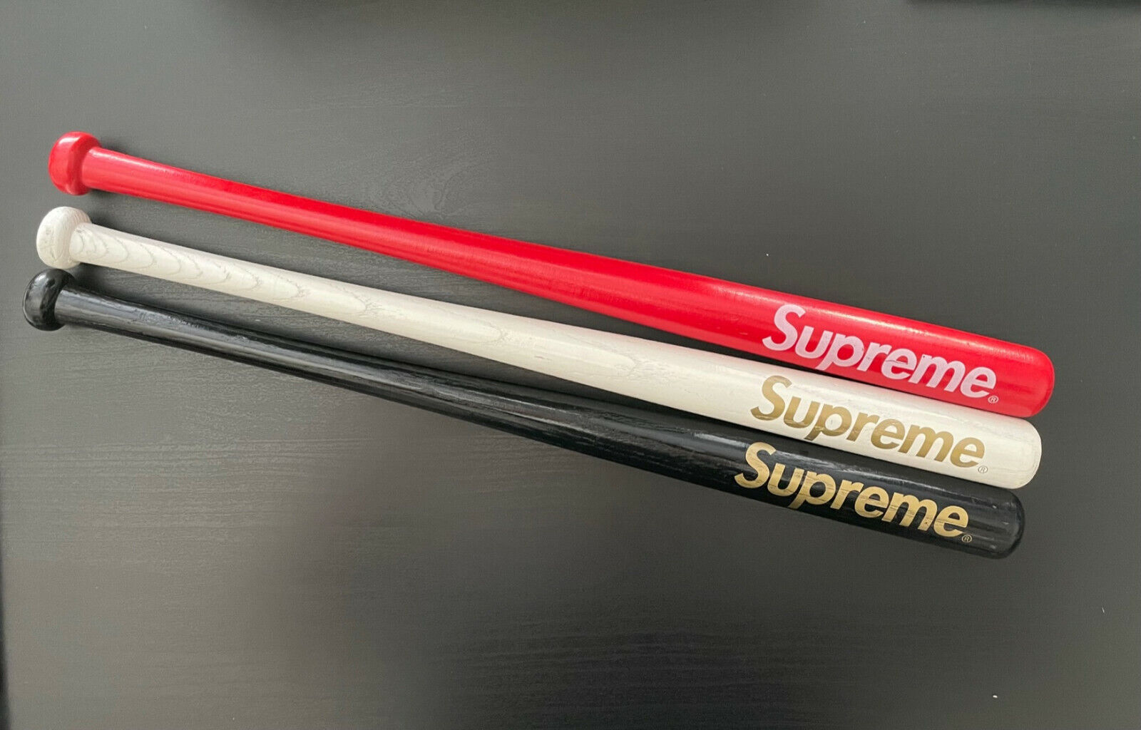 Supreme X Louisville Slugger Mini Bat Set Of 3 SS06 NOS Rare Sold Out Box Logo