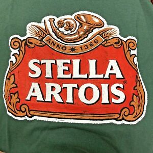 3c82d036b Stella Artois Beer T Shirt New Authentic Green M XL Ships Free | eBay